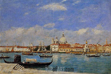 View of Venice, 1895 | Eugene Boudin | Gemälde Reproduktion