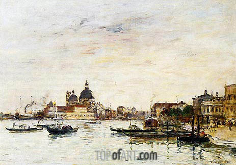 Venice, the Mole at the Entrance, 1895 | Eugene Boudin | Painting Reproduction