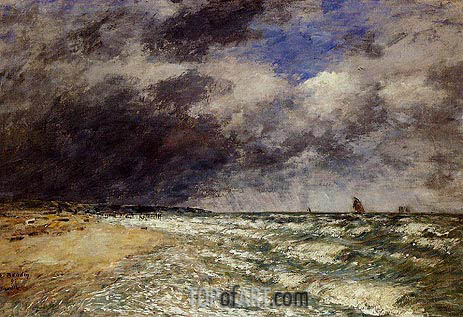 A Squall from Northwest, 1895 | Eugene Boudin | Painting Reproduction