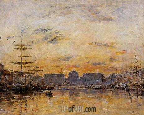 The Commerce Basin, Le Havre, 1892 | Eugene Boudin | Painting Reproduction