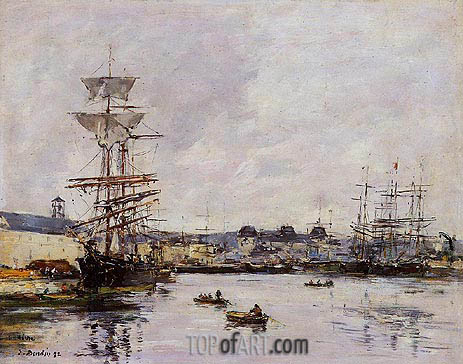 Le Havre, the Casimir Delavigne Basin, 1892 | Eugene Boudin | Painting Reproduction