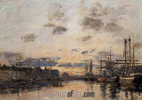 Fecamp, the Basin, c.1892/94 | Eugene Boudin | Painting Reproduction