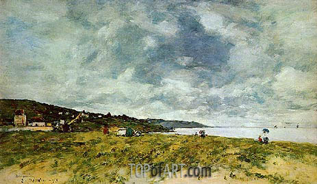 The Shore at Tourgeville, 1893 | Eugene Boudin | Gemälde Reproduktion