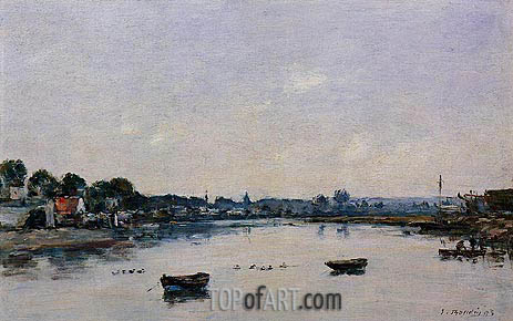 The Banks of the Touques, 1893 | Eugene Boudin | Gemälde Reproduktion
