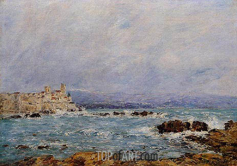 Antibes, the Rocks of the Islet, 1893 | Eugene Boudin | Gemälde Reproduktion