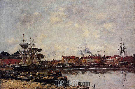 Dunkirk, The Inner Port, 1889 | Eugene Boudin | Gemälde Reproduktion