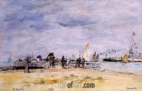 Deauville, the Jetty, c.1888/95 | Eugene Boudin | Painting Reproduction