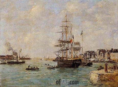 Le Havre, the Outer Port, 1886 | Eugene Boudin | Gemälde Reproduktion
