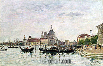 Santa Maria della Salute and the Dogana, Venice, 1895 | Eugene Boudin | Painting Reproduction