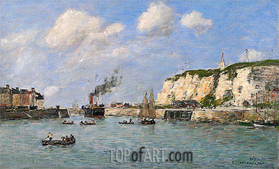 The Entree of the Harbour, Dieppe, 1896 | Eugene Boudin | Gemälde Reproduktion