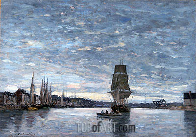 View of the Basin at Trouville, Undated | Eugene Boudin | Gemälde Reproduktion