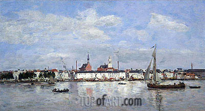 The Quay at Antwerp, 1874 | Eugene Boudin | Gemälde Reproduktion
