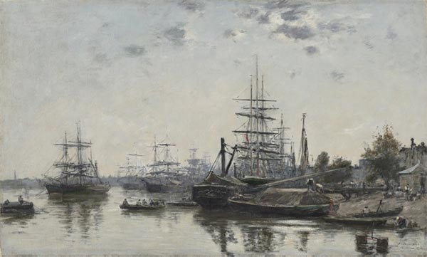 View of Bordeaux, 1874 | Eugene Boudin | Painting Reproduction
