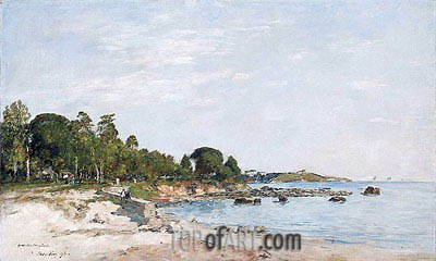 Juan-les-pins, the Bay and the Shore, 1893 | Eugene Boudin | Gemälde Reproduktion