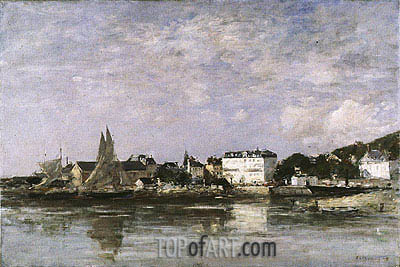 View of the Harbour at Trouville, 1878 | Eugene Boudin | Gemälde Reproduktion