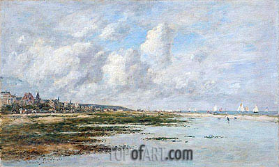 Deauville at Low Tide, 1897 | Eugene Boudin | Painting Reproduction
