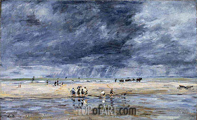 Figures on the Beach, 1893 | Eugene Boudin | Gemälde Reproduktion