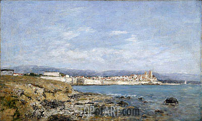 View of Antibes, 1893 | Eugene Boudin | Gemälde Reproduktion