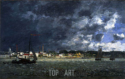 Storm over Antwerp, 1872 | Eugene Boudin | Painting Reproduction