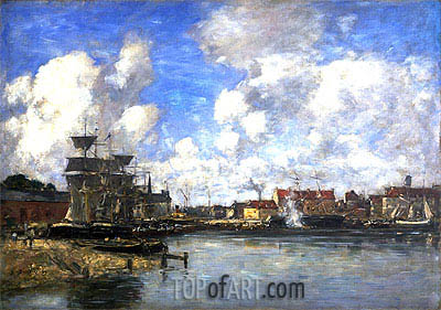 Dunkirk, 1889 | Eugene Boudin | Painting Reproduction