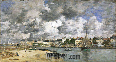 View of Trouville, 1873 | Eugene Boudin | Gemälde Reproduktion