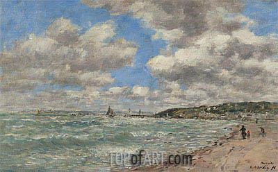 The Shore of Deauville, 1896 | Eugene Boudin | Gemälde Reproduktion