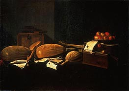 Still Life with Musical Instruments, c.1664/66 von Baschenis | Gemälde-Reproduktion