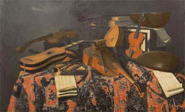 Still Life with Musical Instruments, Undated von Baschenis | Gemälde-Reproduktion
