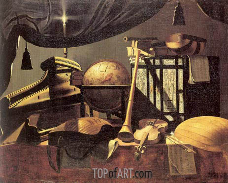 Still-life with Musical Instruments, undated | Baschenis | Painting Reproduction