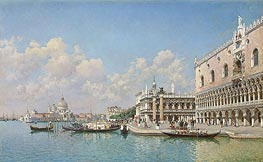 View towards the Doge's Palace and Santa Maria della Salute | Federico del Campo | Gemälde Reproduktion