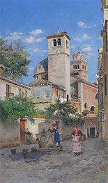 Meeting at the Well, Venice, 1891 von Federico del Campo | Gemälde-Reproduktion