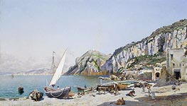 Beach at Capri | Federico del Campo | Painting Reproduction