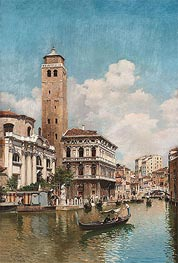 Gondolas on a Venetian Canal | Federico del Campo | Painting Reproduction