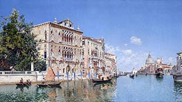 The Grand Canal, 1885 von Federico del Campo | Gemälde-Reproduktion