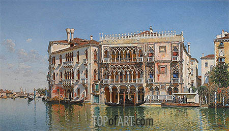 The Ca d'Oro, Venice, 1885 | Federico del Campo | Painting Reproduction