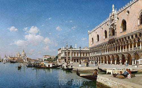 The Grand Canal, Venice, 1890 | Federico del Campo | Painting Reproduction