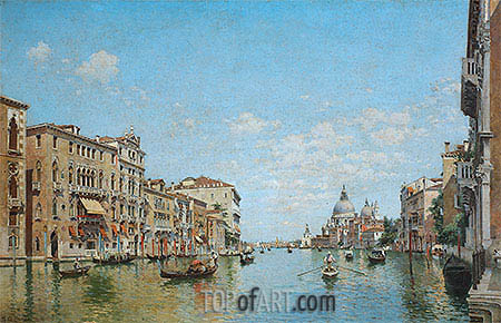 View of the Grand Canal of Venice, 1913 | Federico del Campo | Painting Reproduction