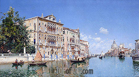 The Grand Canal, 1885 | Federico del Campo | Painting Reproduction