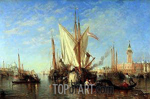Venice: the Bacino di S.Marco with Fishing Boats, c.1865 | Felix Ziem | Painting Reproduction