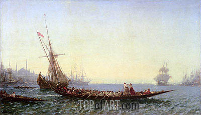 Harbour in Constantinople, c.1880 | Felix Ziem | Painting Reproduction