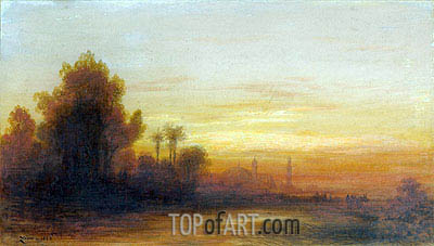 A View of Turkey at Sunset, 1862 | Felix Ziem | Painting Reproduction
