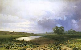 Wet Meadow, 1872 by Feodor Vasilyev | Painting Reproduction