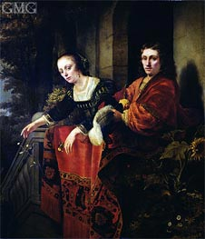 Portrait of a Husband and Wife, 1654 by Ferdinand Bol | Painting Reproduction