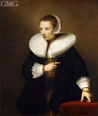 Portrait of an Woman, c.1642/44 | Ferdinand Bol | Painting Reproduction