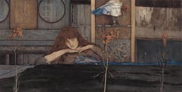 I Lock My Door upon Myself, 1891 by Khnopff | Painting Reproduction