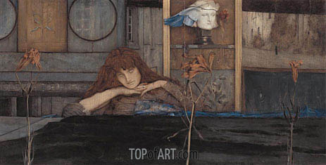 I Lock My Door upon Myself, 1891 | Khnopff | Painting Reproduction