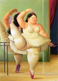 Dancer at the Pole   Botero   Painting Reproduction