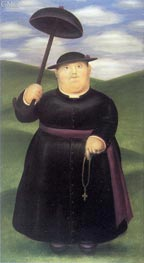 Walk in the Hills   Botero   Painting Reproduction