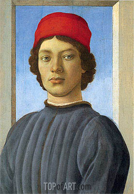 Portrait of a Youth, c.1480 | Filippino Lippi | Painting Reproduction