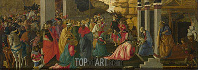 Adoration of the Kings, c.1470 | Filippino Lippi | Painting Reproduction